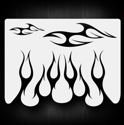 Pics Photos - Airbrush Flame Stencils Templates Flames Tattoo Pictures