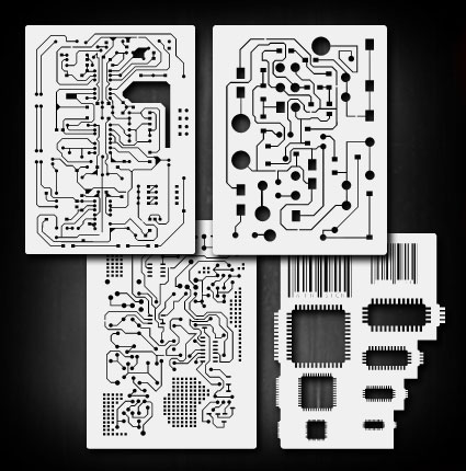 details about mini circuit board set airbrush stencil template airsickDetails About Circuit Board 2 Airbrush Stencil Template Airsick #7