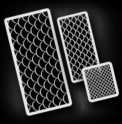 fish scales airbrush stencil template airsick 723810973677 ebay