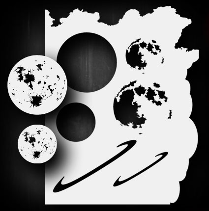 moon planet set airbrush stencil template airsick 723810974780 ebay