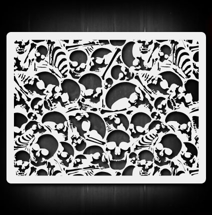 skull background 6 airbrush stencil template airsick 723810976111 ebay